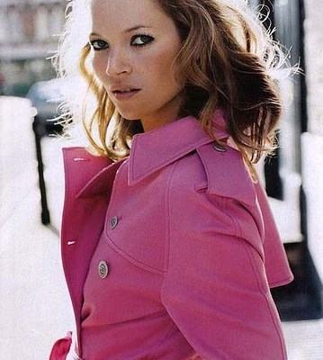 kate moss pink burberry trench
