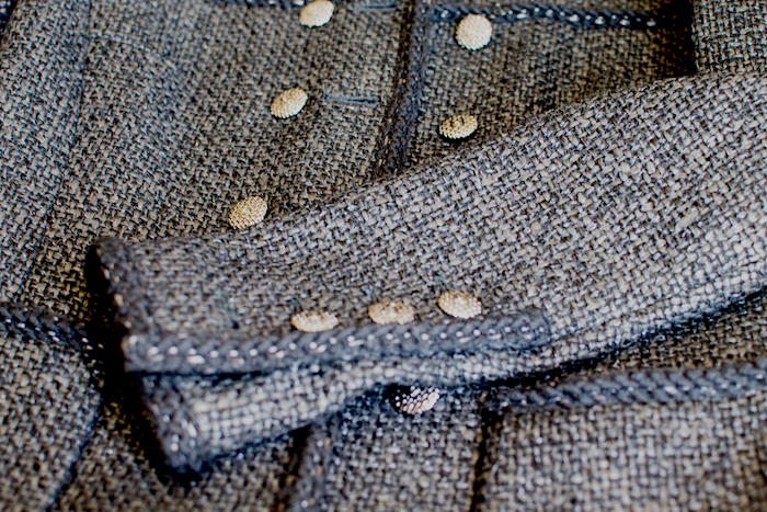 Black jacket detail