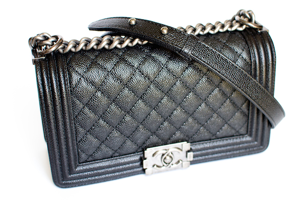 Chanel Boy Black Caviar Leather