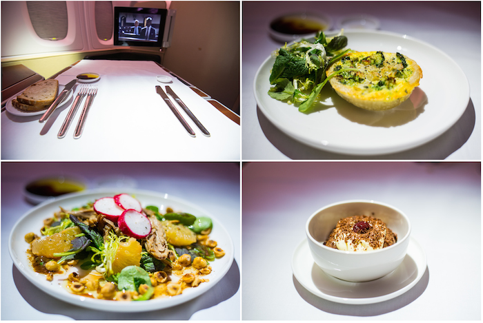 Qantas A380 First Class Food