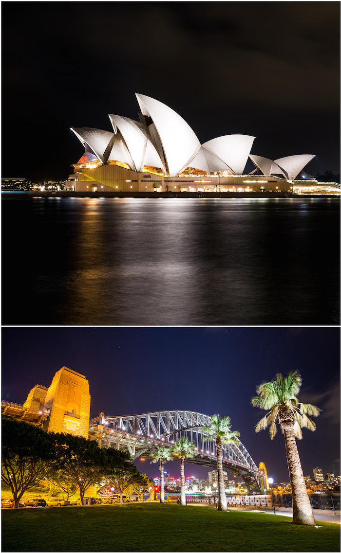 Sydney Opera House Bridge View Night