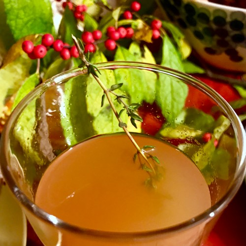 Fall Dinner Party - Sparkling Apple Sangria