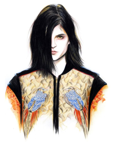 Caroline Andrieu s Fashion Illustrations   Feather Of Me Caroline Andrieu Illustrations 1