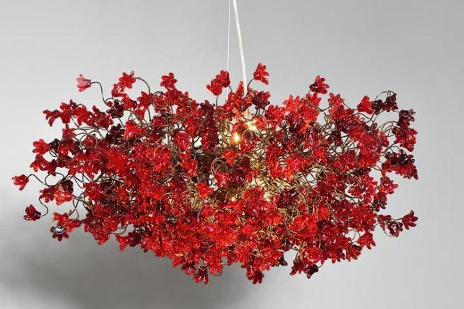 Yehuda Ozan Lighting Red Flowers Chandelier