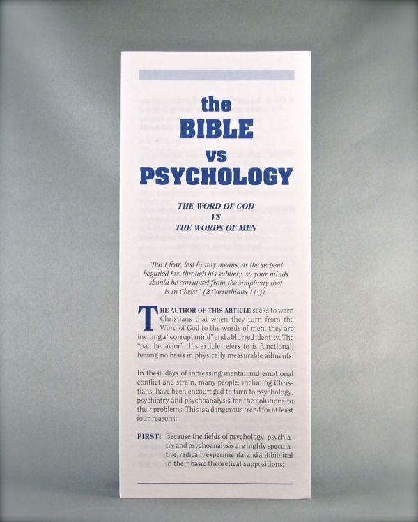 The Bible vs. Psychology