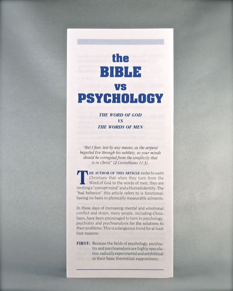 The Bible vs. Psychology