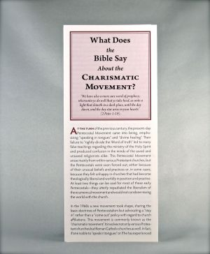 What Does the Bible Say About the Charismatic Movement?