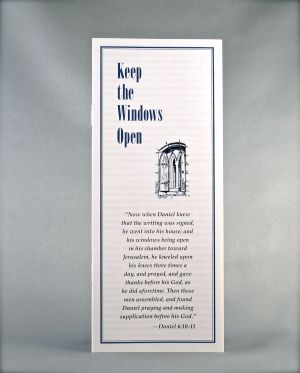 Keep the Windows Open