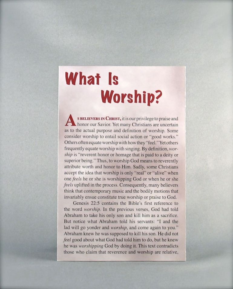 What is Worship?