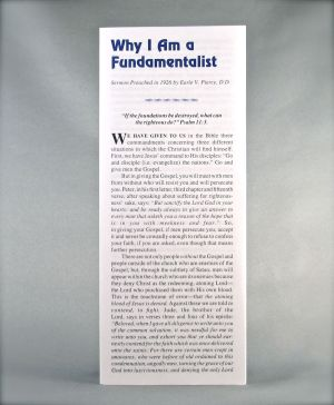 Why I Am a Fundamentalist