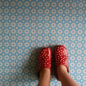 Rose des Vents Blue Vinyl Floor Tiles