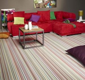 Stripes Bright Sheet Vinyl Flooring