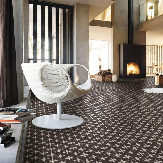 Compass Black Ceramic Tiles