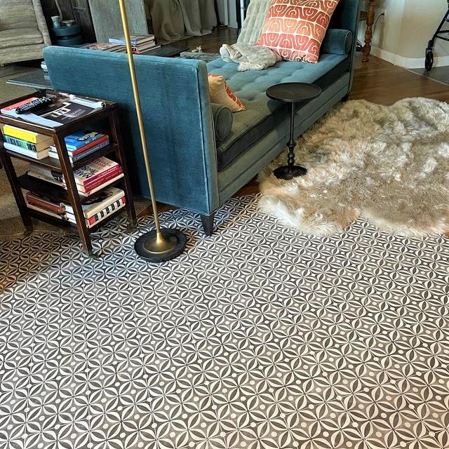 mid century black sheet vinyl flooring