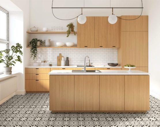 Retro kitchen floor tiles