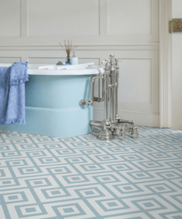 Granada Blue Sheet Vinyl Flooring