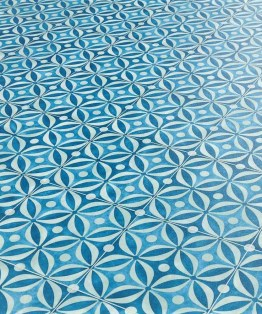 Mid Century Azure Sheet Vinyl Flooring
