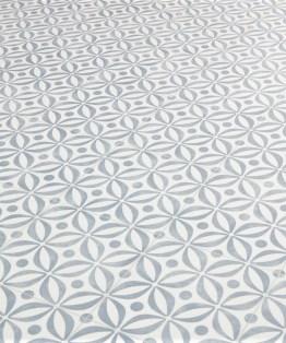 Mid Century Cobalt Sheet Vinyl Flooring