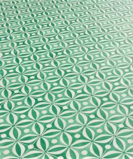 Mid Century Emerald Sheet Vinyl Flooring