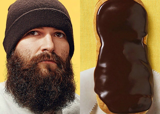 Donut Doubles Strange Donuts Shop Bakery Breakfast Big Brown Beard Duck Dynasty Facial Hair Eclair Cap