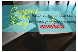content is the king isi tulisan yang menarik untuk dibaca