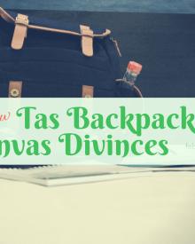 review tas backpack atau ransel kanvas divinces