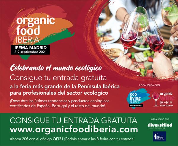 ORGANIC FOOD IBERIA vuelve los días 8 y 9 de septiembre