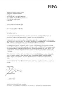 Carta presidente FIFA