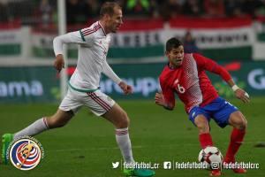 Amistoso CRC vs Hungría Cristian Gamboa noviembre 2017