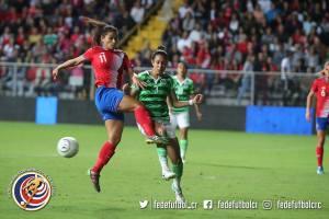 CRC vs MEX amistoso Sele Mayor Femenina noviembre 2017 Raquel Rodríguez