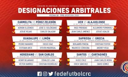Comisión define los seis árbitros para fecha 10