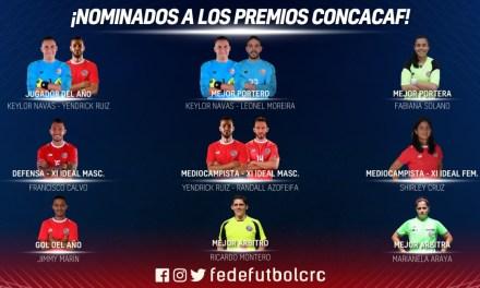 Diez ticos nominados a los premios CONCACAF
