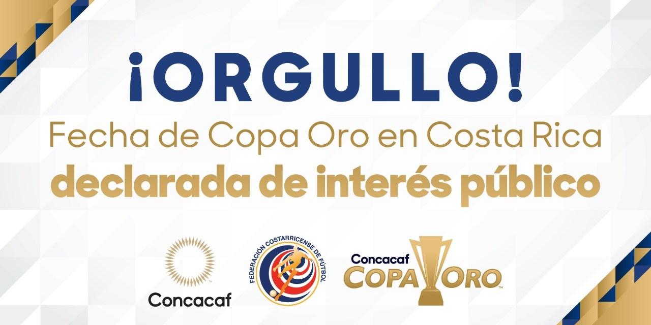 Histórico. ¡Fecha en Costa Rica de la Copa Oro declarada de interés público!