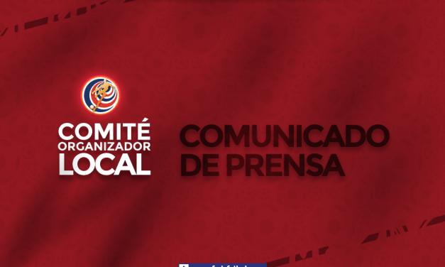 Comunicado Comité Organizador Local de Costa Rica