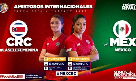 La Sele Femenina se fogueará ante México