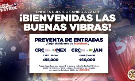 Arrancó preventa de entradas para primeros juegos de Costa Rica como local