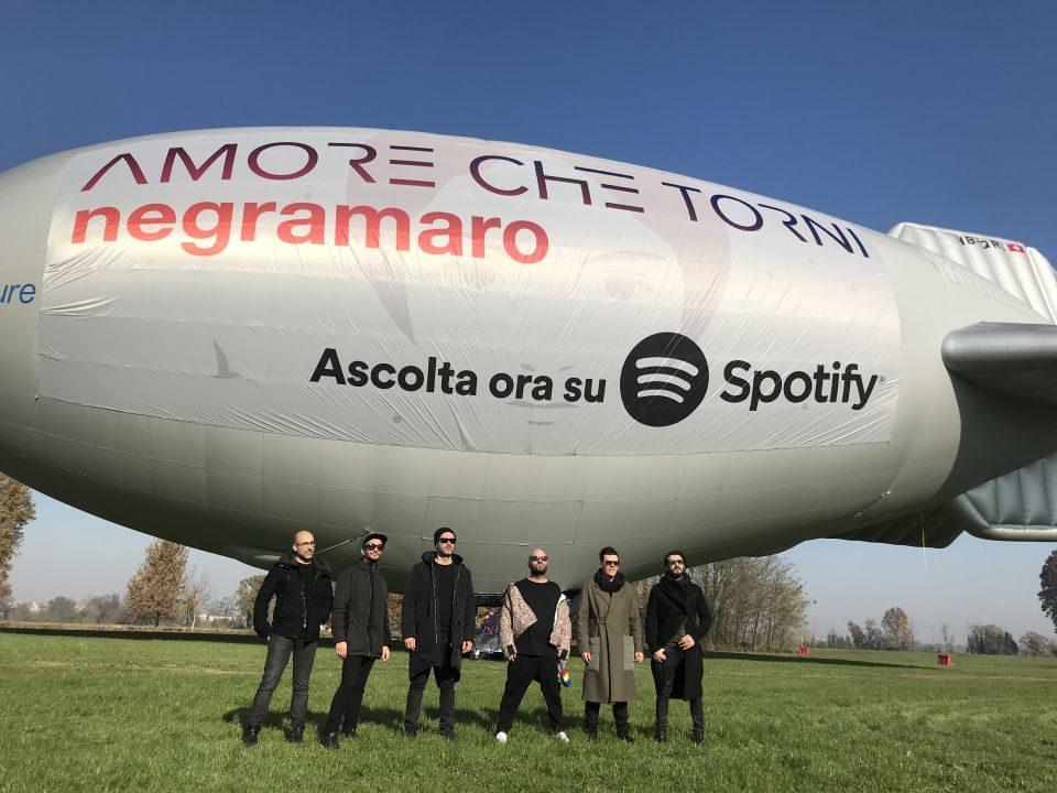 Spotify e i Negramaro  volano insieme  per celebrare l'uscita del nuovo album della band