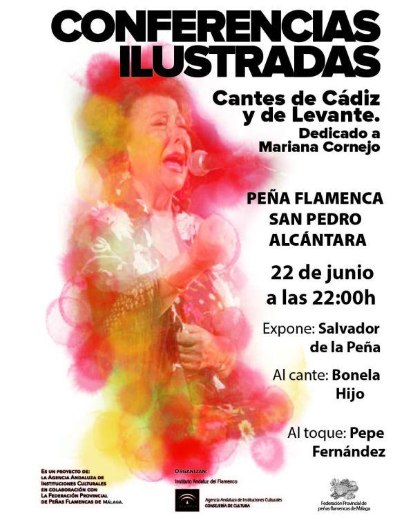CONFERENCIA ILUSTRADA PEÑA FLAMENCA DE RONDA