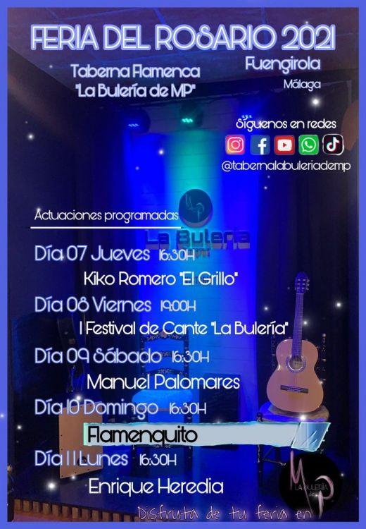 La Bulería presenta su programa para la Feria de Fuengirola 2021 6