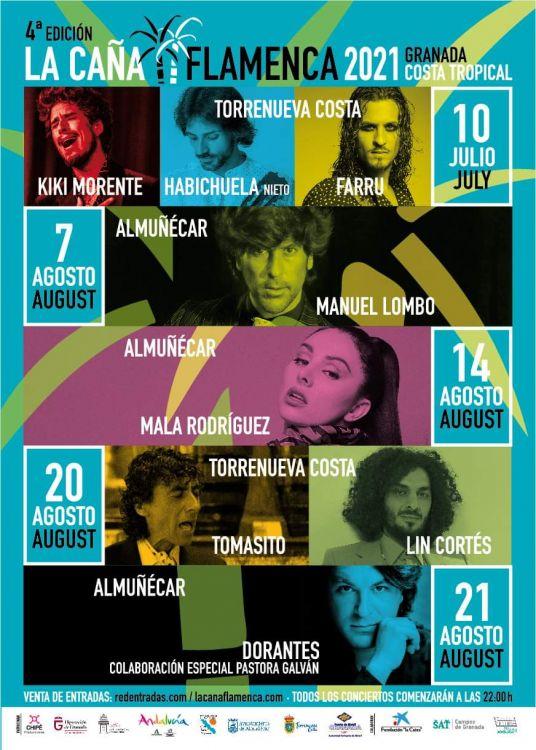 Lombo, Dorantes, Farru, Morente y Habichuela, Lin y Tomasito, en La Caña Flamenca