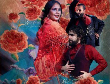 Rafael Ramírez, Sandra Cisneros y El Choro, en el Tablao Alegría de Málaga