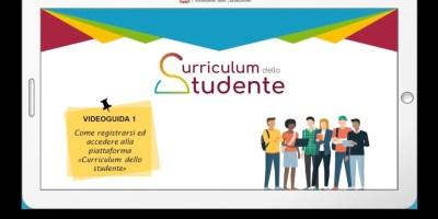 Scuola piattaforma curriculum studente