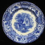 "ANTIQUE 1901 ERA GEORGE JONES & SON, ENGLAND ""ABBEY 1790"" FLOW BLUE PLATE!"