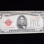 """SERIES 1928F $5.00 UNITED STATES NOTE – """"RED SEAL"""" – XTRA NICE NOTE -HAVE A LOOK"""