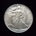 1947 WALKING LIBERTY HALF DOLLAR – FROSTY LAST YEAR COIN