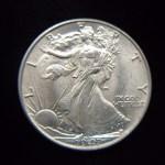 1947 WALKING LIBERTY HALF DOLLAR – FROSTY LAST YEAR COIN