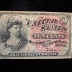 1863 – 4th ISSUE – UNITED STATES 10 CENT FRACTIONAL NOTE – NICE