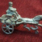 VINTAGE CAST IRON HORSE & CART WITH DRIVER – VERY NICE OLDTIME PIECE