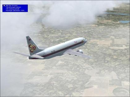 Flying over Bangkok