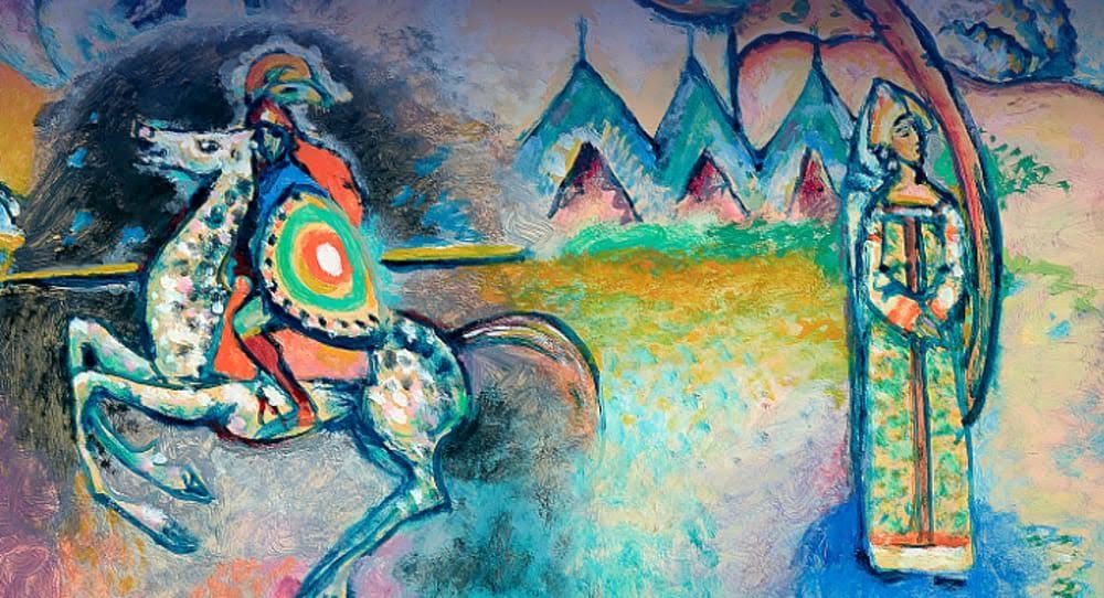 Vasilij Kandinskij, Il Cavaliere (San Giorgio), 1914 – 1915, il pARTicolare.